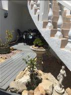 Decked garden area