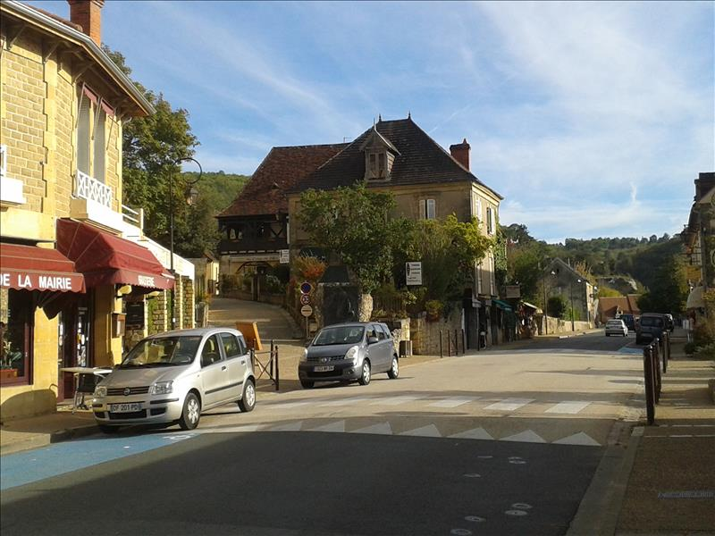 a view of the high street in low season