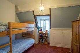Bedroom 3, top floor (9.80 sq m) between the Master and bedroom 4, view over front garden