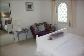 Bedroom 4 with mirrored sliding wardrobe