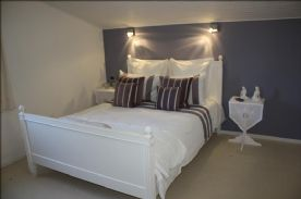 Bedroom 4 upstairs. Has view of pool and back garden double glazed window, LED lighting,carpeted