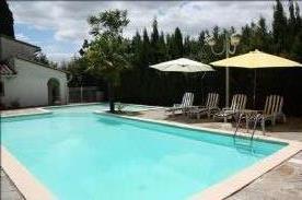 Swimming pool, small side pool 4mx 4m steps down into pool deep end 8ft. large pool 12m x 5m.