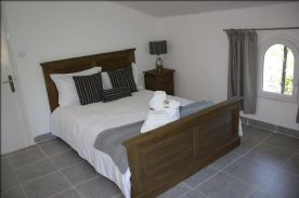 Bedroom 3 twin aspect has view of pool and back garden. new tiled floor, sockets and lighting